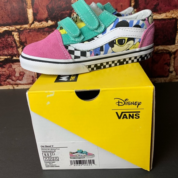 0cde107830 VANS Old Skool V Disney 80 s Mickey Toddler NEW